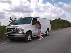 Teen pussy raped in the van